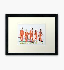 #4 misfits Framed Print