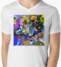 Colorful Abstract Mixed Media Mens V-Neck T-Shirt