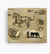 Bestiary: Allothog Canvas Print
