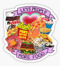 Less People More Food Collage Sticker