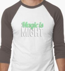 Magic is Might Men's Baseball ¾ T-Shirt