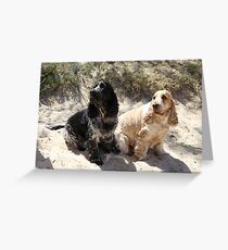 Bart and Gracie Greeting Card
