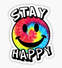 Stay Happy Smiley Face Sticker