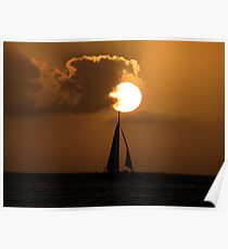 Sailing into the Sunset Poster