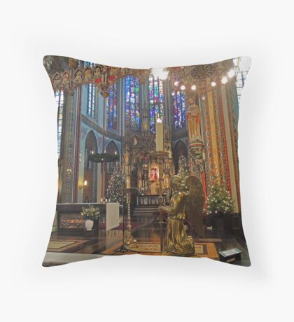 Gold & Glorious: Amsterdam Chruch at Christmas Throw Pillow