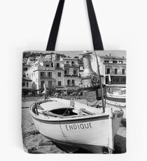"Wooden Fishing Boat ""Enrique"" Tote Bag"