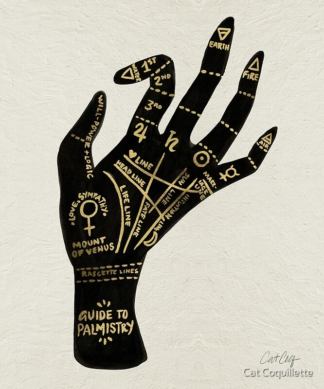 "Palmistry"" Art Prints by Cat Coquillette 