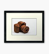 Chocolate Camera Framed Print