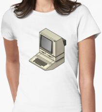 Apple ][ with DuoDrive Womens Fitted T-Shirt