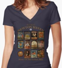 Newton Haven Pubs Women's Fitted V-Neck T-Shirt