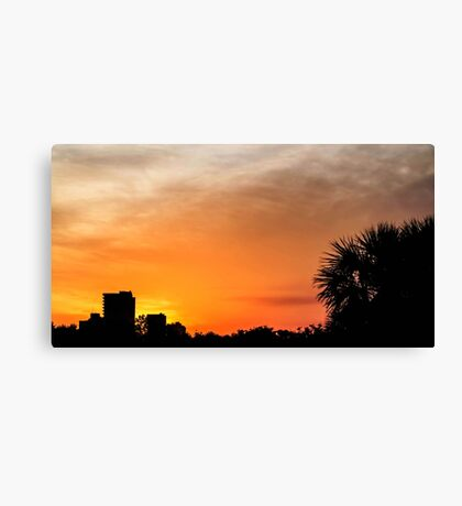Sunset in Panama City Canvas Print