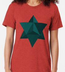 Star Tetrahedron Descent Tri-blend T-Shirt