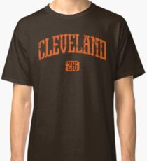 Cleveland 216 (Orange Print) Classic T-Shirt