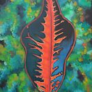 Tropical Leaf Heart by Lori Elaine Campbell