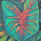 Tiki Leaf by Lori Elaine Campbell
