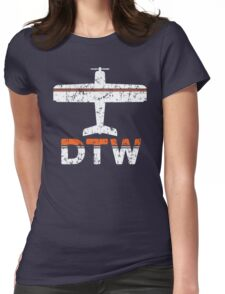 Fly Detroit DTW Airport Womens Fitted T-Shirt