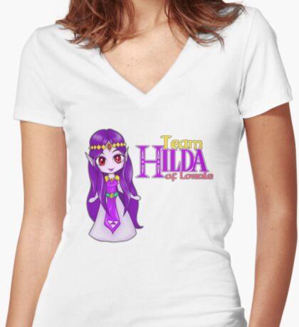 Team Hilda of Lorule Fitted V-Neck T-Shirt