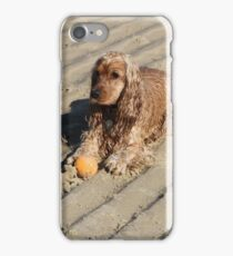 Beach Dog With Her Ball iPhone Case/Skin