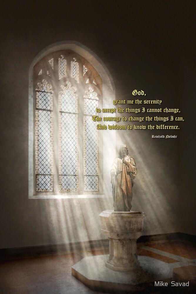 Inspirational - Heavenly Father - Senrenity Prayer  by Michael Savad