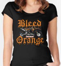 Bleed Orange Women's Fitted Scoop T-Shirt