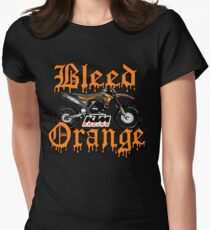 Bleed Orange Women's Fitted T-Shirt