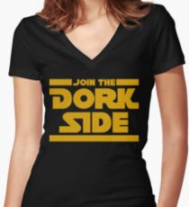 Join The Dork Side Women's Fitted V-Neck T-Shirt