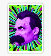 Nietzsche Burst 6 - by Rev. Shakes Sticker