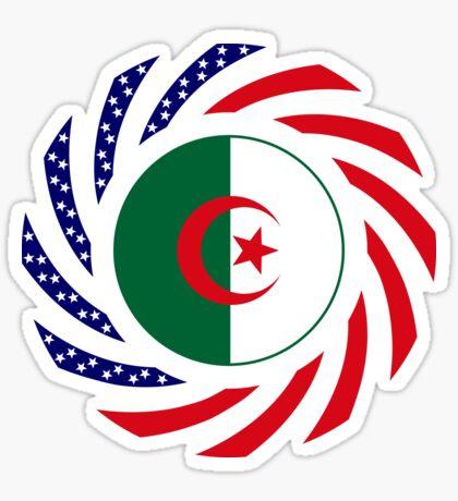 Algerian American Multinational Patriot Flag Sticker