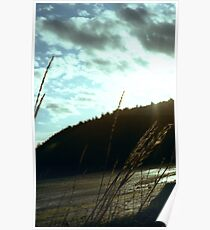Sunset on the water Chuckanut Bay american northwest landscape - Spighe nel Tempo Poster