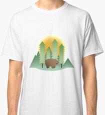 Grizz & Pine Trees - We Bare Bears Classic T-Shirt