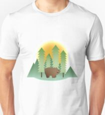 Grizz & Pine Trees - We Bare Bears Unisex T-Shirt