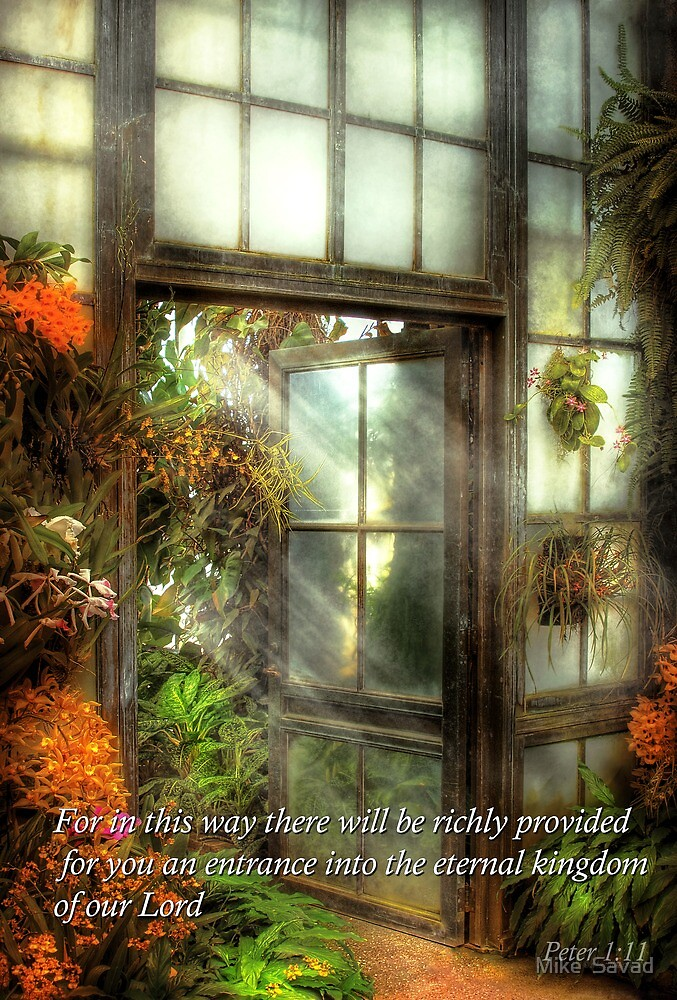 Inspirational - The door to paradise - Peter 1-11 by Michael Savad