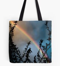 Rainbow against clouds at sunset sky color wall art - Arcobaleno Tote Bag
