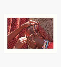 Masai Face Paint Art Print