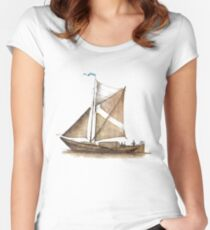 Vintage Ship Women's Fitted Scoop T-Shirt