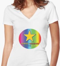 Graphic Designer Of The Year Women's Fitted V-Neck T-Shirt