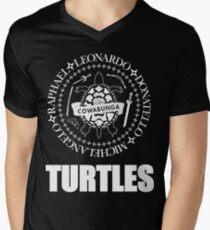 TMNT Ramones Logo V-Neck T-Shirt