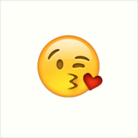 Küsschen Emoji Kunstdrucke von victoriab-123 | Redbubble