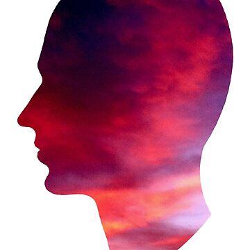Head Profile Sunset by harringe