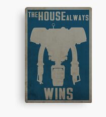 The House Always Wins Canvas Print