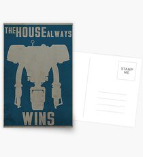 The House Always Wins Postcards