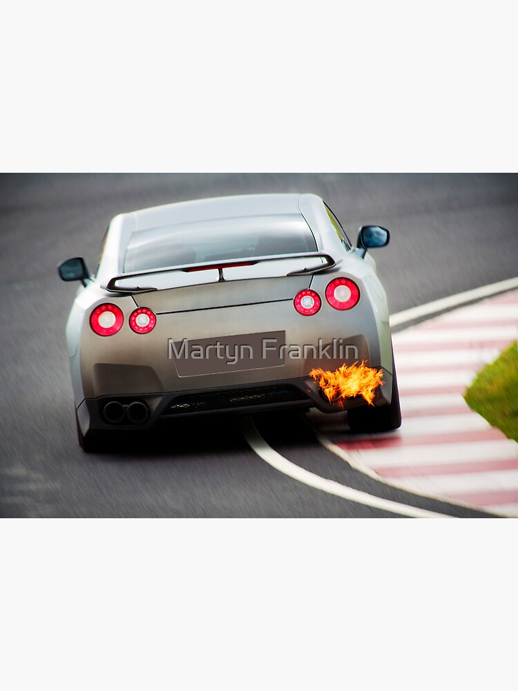 Quot Nissan Skyline Spitting Flames Quot Framed Art Print By