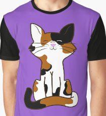 Sitting Calico Cat Graphic T-Shirt