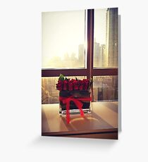 City Romance  Greeting Card