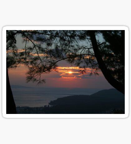 January Sunset, Akyaka Sticker