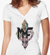 Memphis May Fire Logo! Women's Fitted V-Neck T-Shirt