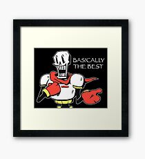 Papyrus from Undertale Framed Print
