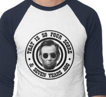 Hipster Abe Men's Baseball ¾ T-Shirt