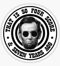Hipster Abe Sticker