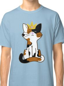 Calico Cat Princess with Gold Crown Classic T-Shirt